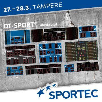 Liikuntapaikka Sportec -messujen ohjelma DT-Sport Tulostaulut