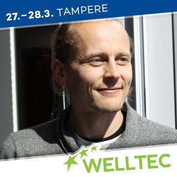 Liikuntapaikka Welltec -messujen puhuja Olli Tikkanen