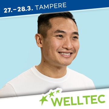 Liikuntapaikka Welltec -messujen puhuja Roni Tran