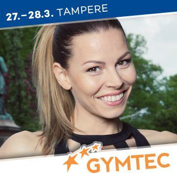 Liikuntapaikka Gymtec -messujen puhuja Mari Valosaari