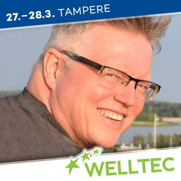 Liikuntapaikka Welltec -messujen puhuja Mikko Koskela
