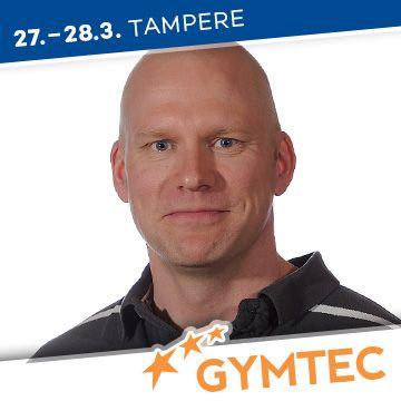 Liikuntapaikka Gymtec -messujen puhuja Tomi Tuominen