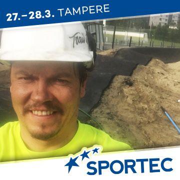 Liikuntapaikka Sportec -messujen puhuja Juhana Koivisto